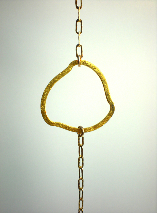 Brushed Vermeil Freeform Ring Link Bracelet