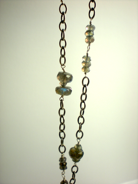 Labradorite Rondelle & Nugget Necklace