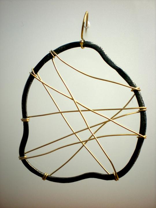 Large Circle Spoke Earrings