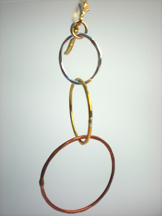 Linked Multi Circle Earrings