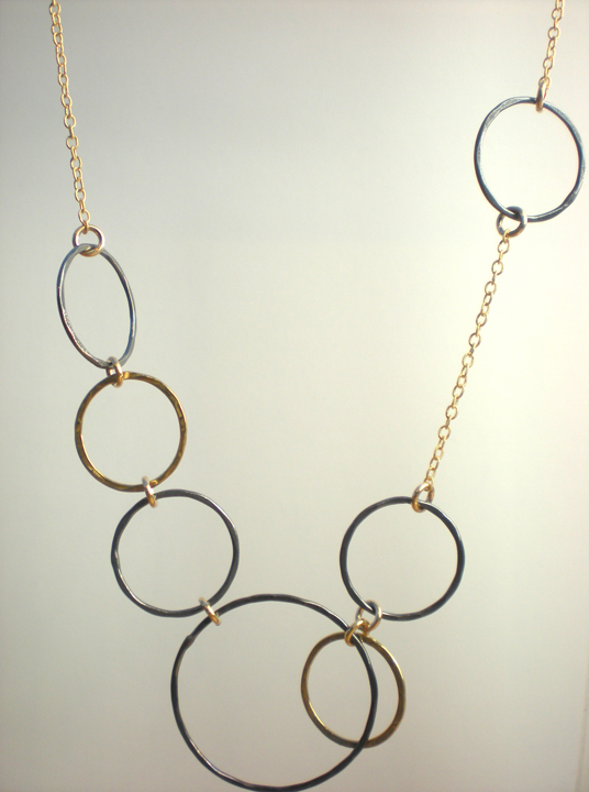 Multiple Circle Bib Necklace