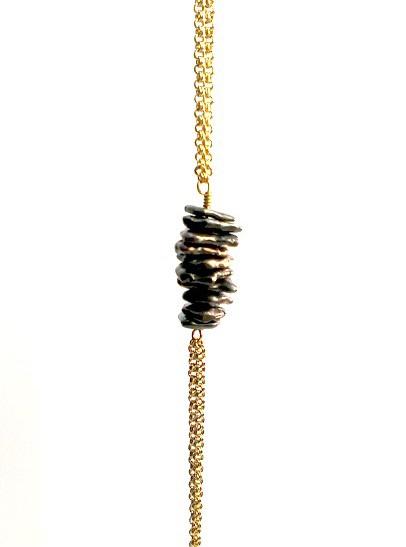 Shibuichi Bronze Bead Bracelet_