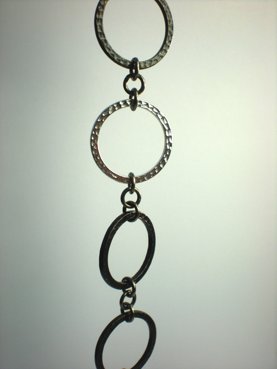 Triple Tone Circle Silver Finish Bracelet