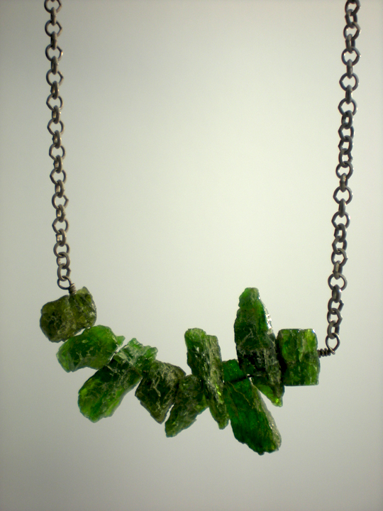 Tsavorite Garnet Shard Necklace